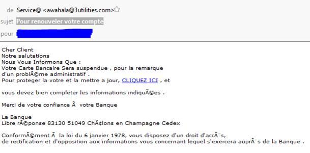 Sécurité informatique - Arnaque - Mail « Pour renouveler ...
